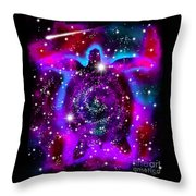 Another Cosmic Sea Turtle Throw Pillow