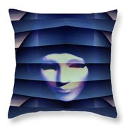 Another Face In The Crowd Throw Pillow