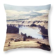 Another Flathead River Image Throw Pillow