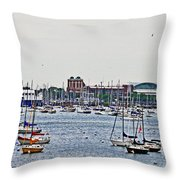 Another Harbor View Throw Pillow