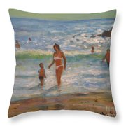 Another Hot Day Throw Pillow