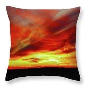 Another Illinois Sunset Throw Pillow