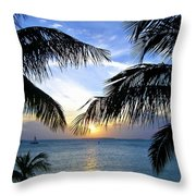Another Key West Sunset Throw Pillow