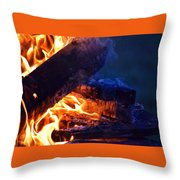 Another Log On The Fire Throw Pillow