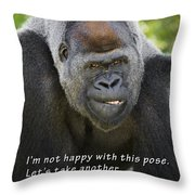 Another Pose Throw Pillow