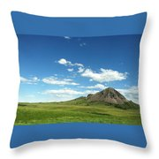 Another Side Of Bear Butte Throw Pillow