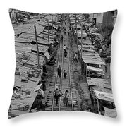 Another Side Of Cuzco-signed-#008 Throw Pillow