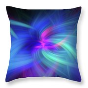 Another Space. Mystery Of Colors Throw Pillow