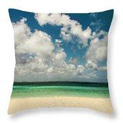 Anguilla - Another Spectacular Beach  Throw Pillow