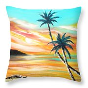Another Sunset In Paradise Throw Pillow
