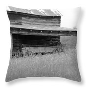 Another Time -- Black And White Throw Pillow