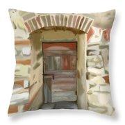 Another Tuscan Door Throw Pillow