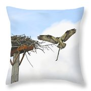 Another Twig For The Nest Throw Pillow