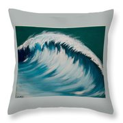 Another Wave Throw Pillow