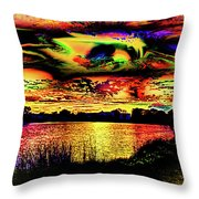 Another Wicked Sunset Throw Pillow