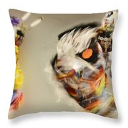 Pow Wow Another World Another Time Throw Pillow