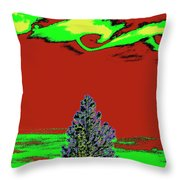 Another World On Earth Throw Pillow