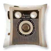Ansco Shur Shot Throw Pillow by Mike McGlothlen