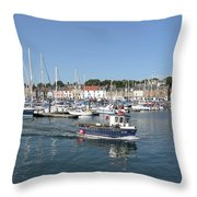 Anstruther Away Fishing Throw Pillow
