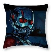 Ant Man Painting Throw Pillow