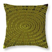 Ant Nest Abstract Fabric Design # 2 Throw Pillow