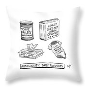 Antagonistic Baby Products Throw Pillow