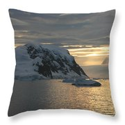 Antarctic Coast Throw Pillow