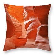 Antelope Canyon - Nature's Art Gallery Throw Pillow by Christine Till