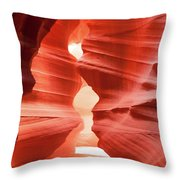 Antelope Canyon Chamber Throw Pillow by Howard Bagley