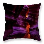 Antelope Canyon Glow Throw Pillow