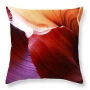Antelope Canyon Layers Throw Pillow
