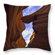 Antelope Canyon Nine Throw Pillow