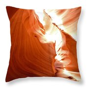 Antelope Canyon Scuplture Throw Pillow