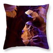 Antelope Canyon Seventeen Throw Pillow