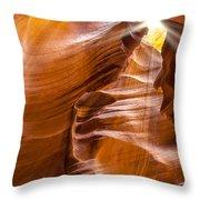 Antelope Canyon Sunrays Throw Pillow