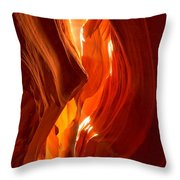 Antelope Canyon Wavy Abstract Throw Pillow