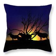 Antelope Crossing Throw Pillow