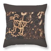 Antelope Petroglyph Throw Pillow