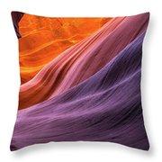 Antelope Rainbow Color Wave  Throw Pillow