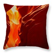 Antelope Textures And Flames Throw Pillow