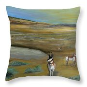 Antelopes Throw Pillow