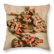 Anthem Of Old England Throw Pillow