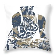 Anthony Davis New Orleans Pelicans Pixel Art 21 Throw Pillow