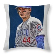 Anthony Rizzo Chicago Cubs 3 Throw Pillow