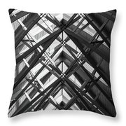 Anthony Skylights Grayscale Throw Pillow