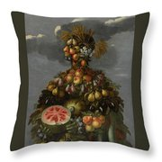 Anthropomorphic Allegory Of Summer Throw Pillow