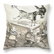 Anti-greenback Cartoon Throw Pillow