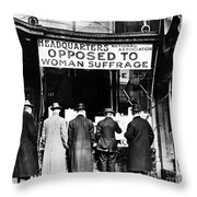 Anti-suffrage Association Throw Pillow