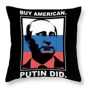 Anti Trump Art Impeach President Resist Putin Dark Throw Pillow