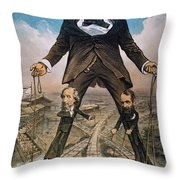 Anti-trust Cartoon, 1879 Throw Pillow